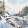 Морозная свежесть Овен Набор для вышивки крестом 1387о фото