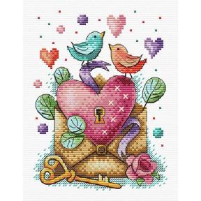 День влюбленных Набор для вышивки крестом МП Студия М-602