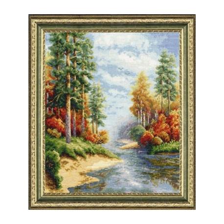 Набор для вышивки крестом Золотое Руно ВМ-001 Осень фото
