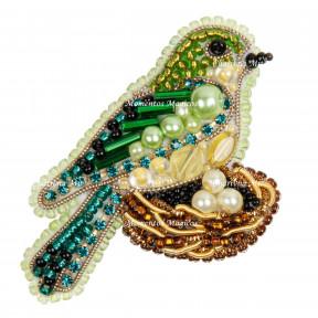 Птичка в гнезде Набор для изготовления броши Crystal Art  БП-314