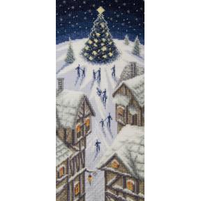 Рождественские огни Чарівна Мить Набор для вышивания крестом М-470