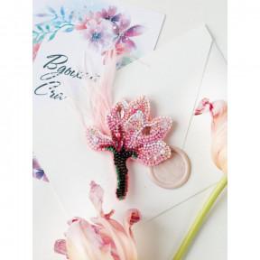 Нежная магнолия Абрис Арт Набор для вышивки бисером украшения на натуральном художественном холсте AD-204