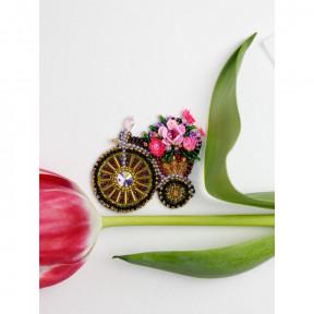 Велосипедик Абрис Арт Набор для вышивки бисером украшения на натуральном художественном холсте AD-205