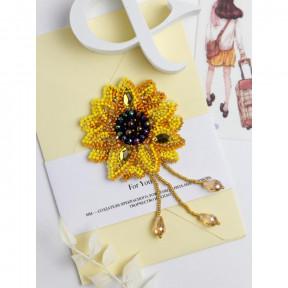 Маленькое солнце Абрис Арт Набор для вышивки бисером украшения на натуральном художественном холсте AD-206