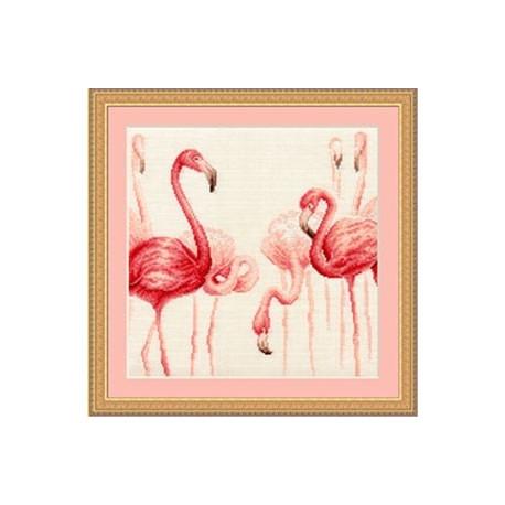 Набор для вышивки крестом Золотое Руно Ф-003 Фламинго 2 фото