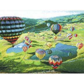 Воздушные шары Набор для вышивки крестом Чарівна Мить  М-443