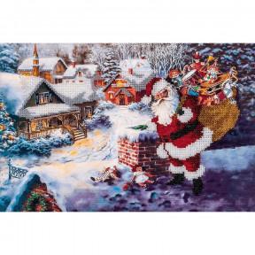 Дед Мороз Набор для вышивки бисером Волшебная страна FLF-085
