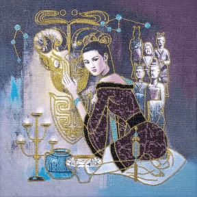 Азиатка Набор для вышивки бисером Волшебная страна FLF-029