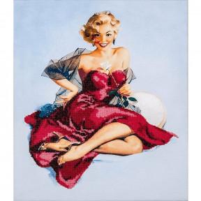 Девушка в красном Набор для вышивки бисером Волшебная страна FLF-024