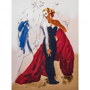 Светская дама Набор для вышивки бисером Волшебная страна FLF-020