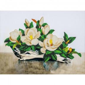 Белая орхидея Набор для вышивки бисером Волшебная страна FLF-019