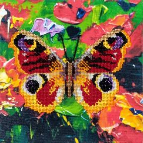 Бабочка-1 Набор для вышивки бисером Волшебная страна FLF-016