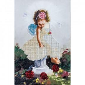 Ангелочек с голубями Набор для вышивки бисером Волшебная страна FLF-015