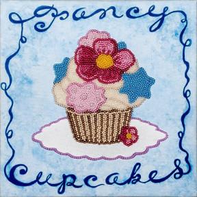 Голубое пирожное Набор для вышивки бисером Волшебная страна FLF-008
