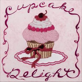 Розовое пирожное Набор для вышивки бисером Волшебная страна FLF-006