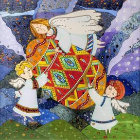В ожидании праздника Схема для вышивания бисером Волшебная страна FLS-130
