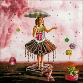 Алиса и Шоколадное море Схема для вышивания бисером Волшебная страна FLS-088