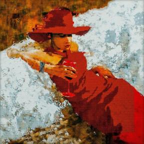 Lady in Red Схема для вышивания бисером Волшебная страна FLS-078