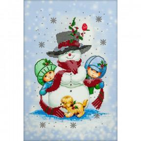 Снеговик Схема для вышивания бисером Волшебная страна FLS-071