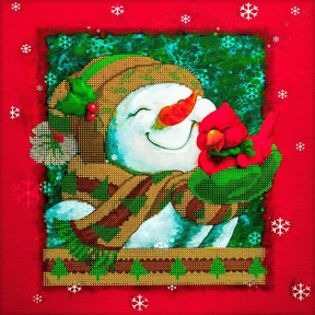 Новогоднее настроение Схема для вышивания бисером Волшебная страна FLS-070