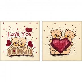 Love you Схема для вышивания бисером Волшебная страна FLS-052D