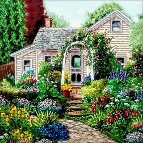 Летний сад Схема для вышивания бисером Волшебная страна FLS-032