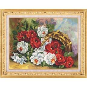 Набор для вышивки крестом Золотое Руно ЛЦ-031 Садовые Розы