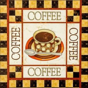 Coffee Схема для вышивания бисером Волшебная страна FLS-020