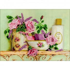 Чайные розы Схема для вышивания бисером Волшебная страна FLS-018