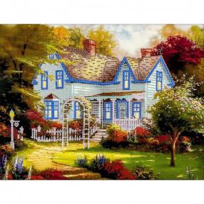 Загородный дом Схема для вышивания бисером Волшебная страна FLS-006