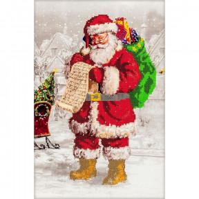 Дед Мороз Схема для вышивания бисером Волшебная страна FLS-001