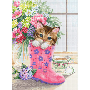 Симпатичный котёнок Набор для вышивки Luca-S B2390