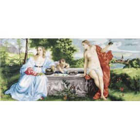 Любовь небесная и Любовь земная Чарівна Мить Набор для вышивания крестом М-407