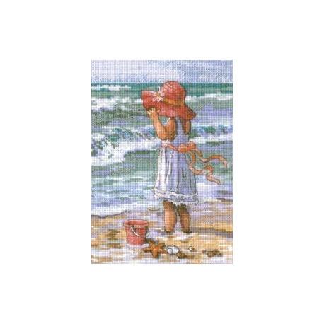 Набор для вышивания крестом Dimensions 65078 Girl at the Beach