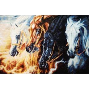 Набор для вышивания  Kustom Krafts SLO-003 Четыре коня Апокалипсиса