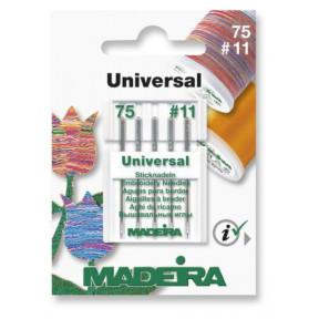 Иглы вышивальные универсальные 75/11 (5 игл/карточка) 9450