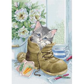 Милый котёнок Набор для вышивки Luca-S B2391