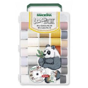 8052 Lana/Cotona дорожный, вышивальный набор+CD диск (30xLana 200м, 20xCotona 200м, 2xBobbinfil 1500м)