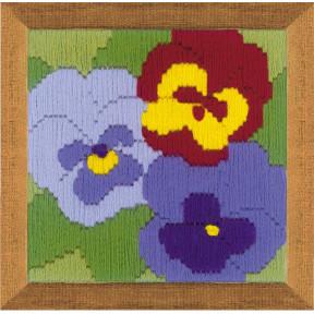 Набор для вышивания Риолис 1633 Три анютки
