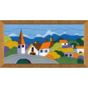 Набор для вышивания Риолис 1630 Городок в горах