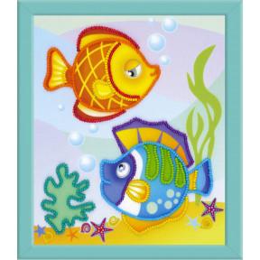 Набор для вышивки крестом Риолис РТ-0062 Морские рыбки