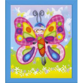 Набор для вышивки крестом Риолис РТ-0061 Сказочная бабочка