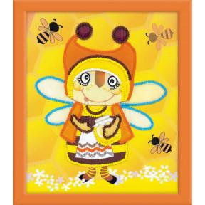 Набор для вышивки крестом Риолис РТ-0055 Бабушка Пчела