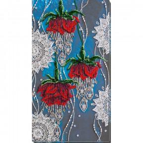 Ночные цветы Набор для вышивки бисером  на холсте Абрис Арт АВ-780