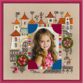 Набор для вышивки крестом Риолис 1580 Панно для фотографии Замок принцессы