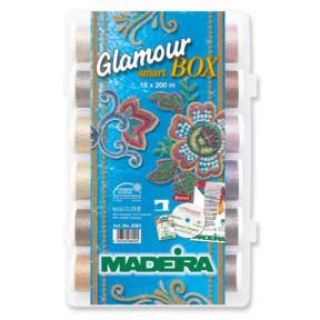 Набор ниток Glamour №12 металлик (18x200м) 8061