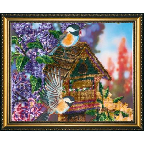 Набор для вышивания бисером Абрис Арт АВ-080 В саду 3 фото