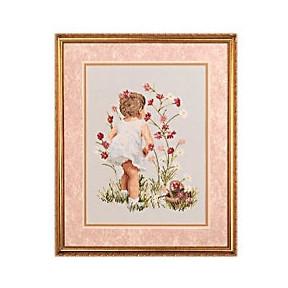 Набор для вышивания  Janlynn 029-0018 Girl with Cosmos