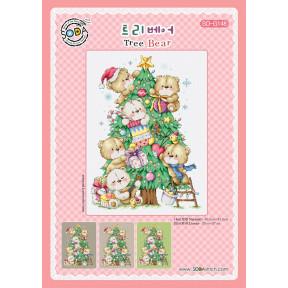 Медвежье дерево Набор для вышивания крестом (Linen 32) SODA Stitch SO-G148L