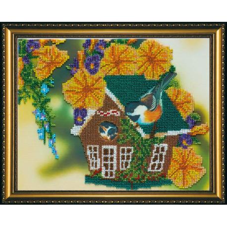 Набор для вышивания бисером Абрис Арт АВ-078 В саду 1 фото